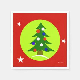 Patriotisches WeihnachtsParty-Papierservietten Papierserviette