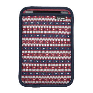 Patriotisches Weihnachtsstrickjacke-Muster Sleeve Für iPad Mini