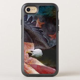 Patriotisches Weißkopfseeadler-Otter-Kasten iPhone OtterBox Symmetry iPhone 8/7 Hülle