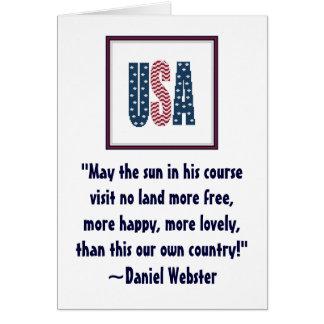 Patriotisches Zitat Notecard Daniel Websters Karte