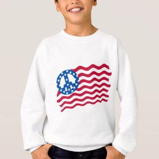 Patriotismus und Frieden im Flagge-Entwurf Sweatshirt