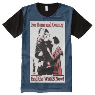 Patriotismus Vintager PSA Redux T-Shirt Mit Bedruckbarer Vorderseite