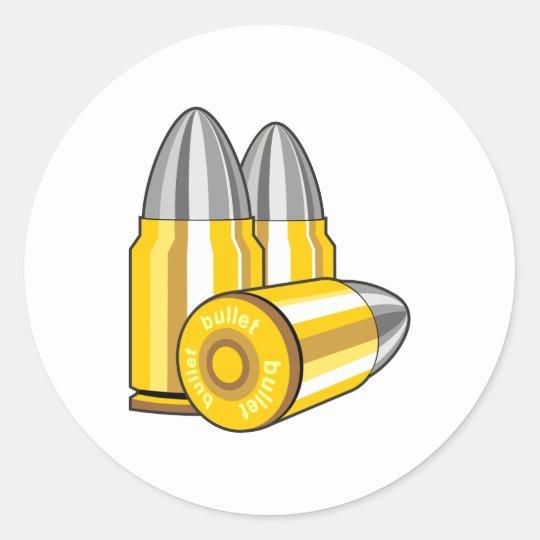 Patronen bullets runder aufkleber