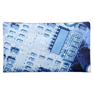 Pattern created with zu blue motherboard kosmetiktasche