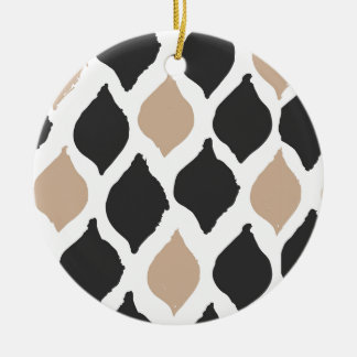 Pattern Rundes Keramik Ornament