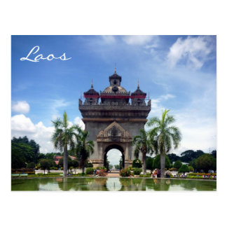 patuxai Laos Postkarte