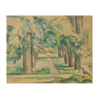 Paul Cezanne - Allee der Kastanienbäume Holzdruck