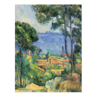 Paul Cezanne - Ansicht von L'Estaque und Chateaux Postkarte