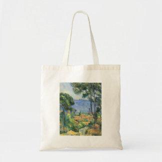 Paul Cezanne - Ansicht von L'Estaque und Chateaux Tragetasche
