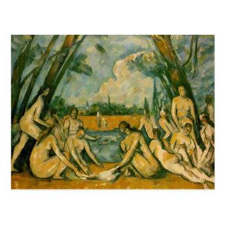 Paul Cezanne - Badegäste Postkarte
