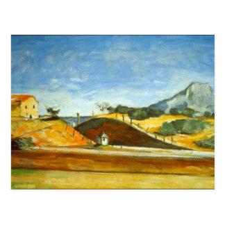 Paul Cezanne - Bahnausschnitt Postkarte