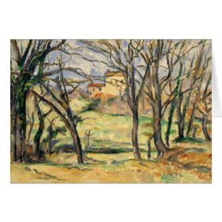 Paul Cezanne - Bäume und Häuser Karte