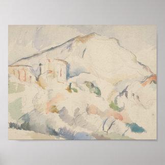 Paul Cezanne-Chateau Noir und Mont Sainte-Victoire Poster