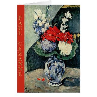 Paul Cezanne, Delft-Vase mit Blumen Notecard Karte