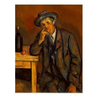 Paul Cezanne- der Trinker Postkarte