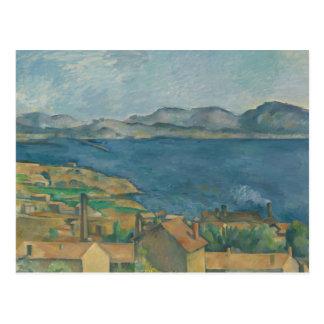 Paul Cezanne - die Bucht von Marseille Postkarte