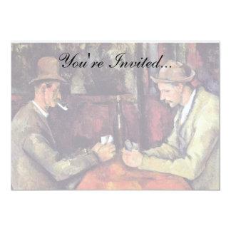 Paul Cezanne - die Kartenspieler-Kunst-Malerei Karte