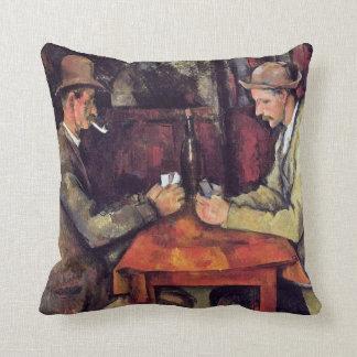 Paul Cezanne - die Kartenspieler-Kunst-Malerei Kissen