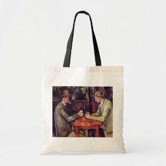 Paul Cezanne - die Kartenspieler-Kunst-Malerei Tragetasche