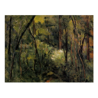 Paul Cezanne- im Holz Postkarte