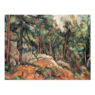 Paul Cezanne - im Holz Postkarte