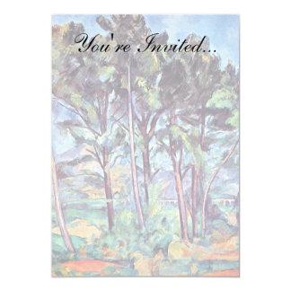 Paul Cezanne - Kiefern und Aquädukt-schöne Kunst Karte