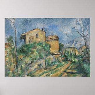 Paul Cezanne - Maison Maria mit Blick auf Chateau Poster