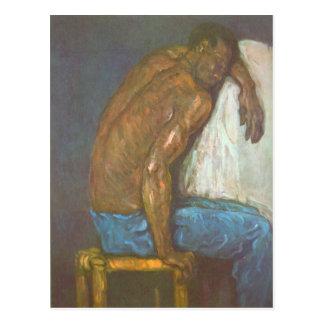 Paul Cezanne - Schwarze Postkarte