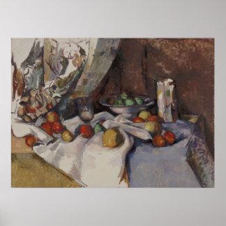 Paul Cézanne - Stillleben mit Äpfeln Poster