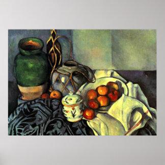 Paul Cezanne - Stillleben mit Äpfeln Poster