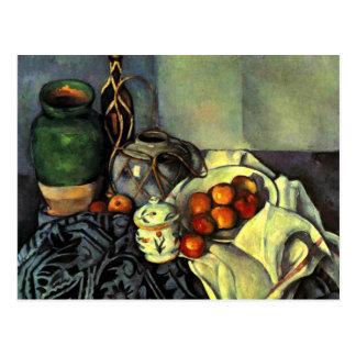 Paul Cezanne - Stillleben mit Äpfeln Postkarte