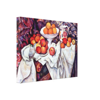 Paul Cezanne - Stillleben mit Äpfeln und Orangen Leinwand Drucke