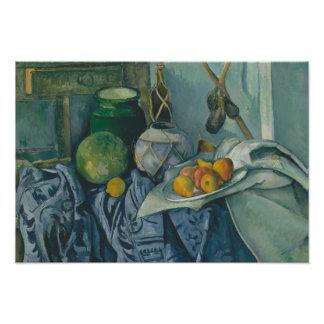 Paul Cezanne - Stillleben mit einem Ingwer-Glas Fotodruck
