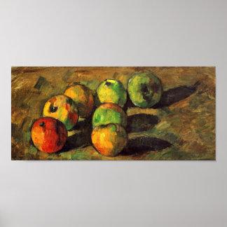 Paul Cezanne - Stillleben mit sieben Äpfeln Poster