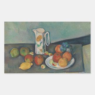 Paul Cezanne - Stillleben Rechteckiger Aufkleber