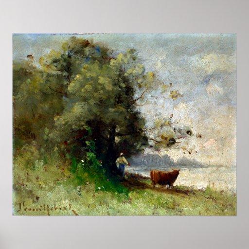 Paul-Désiré Trouillebert durch den See Poster
