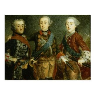 Paul, Frederick II und Gustav Adolph von Schweden Postkarte