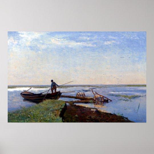 Paul Gabriël Polder-Landschaft Poster