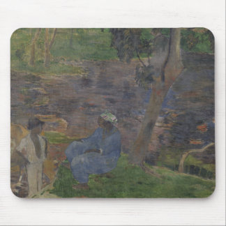 Paul Gauguin - auf dem Ufer des Sees Mousepad
