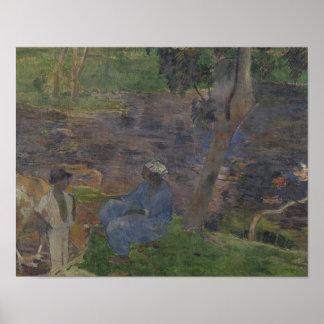 Paul Gauguin - auf dem Ufer des Sees Poster