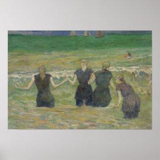 Paul Gauguin - badende Frauen Poster