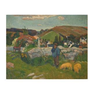 Paul Gauguin das Swineherd Holzdruck