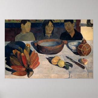 Paul Gauguin - die Mahlzeit Poster