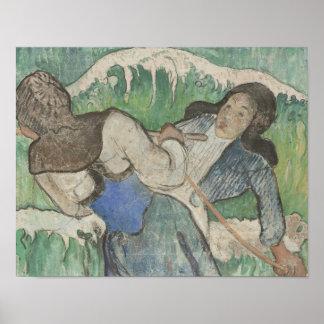 Paul Gauguin - die Meerespflanze-Sammler Poster