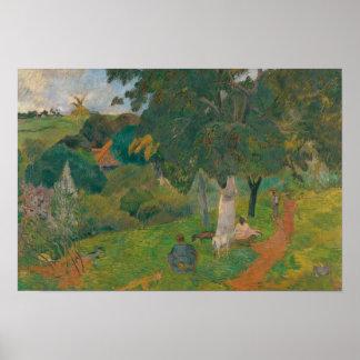 Paul Gauguin - kommend und gehend, Martinique Poster