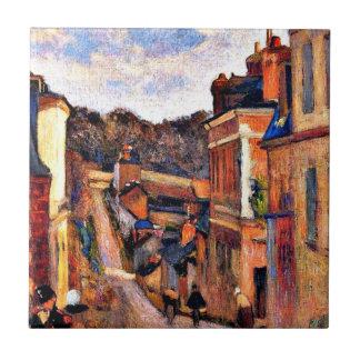 Paul Gauguin-Kunst: Rue Jouvenet, Rouen Kleine Quadratische Fliese