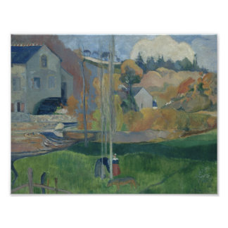 Paul Gauguin - Landschaft in Bretagne Poster