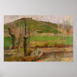 Paul Gauguin - Landschaft nahe Pont-Aven Poster
