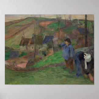 Paul Gauguin - Landschaft von Bretagne Poster