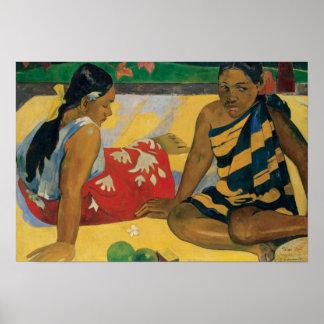Paul Gauguin - Parau API. Welche Nachrichten Poster